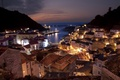 Картинка горы, Испания, дома, архитектура, кафе., Spain, город, море, вечер, городок, hauses, Citiy, пейзаж