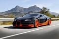 Картинка Super, Бугатти, Вейрон, Veyron, Orange, Bugatti, Sport, Rear, Supercar, Speed