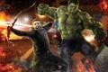 Картинка Халк, мстители, avengers, соколиный глаз