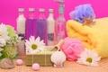 Картинка цветы, flowers, rocks, раковина, соль, полотенце, shell, towel, спа, бутылочки, кристаллы, salt, Tender spirit, crystals, ...