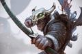 Картинка охотник, лучник, мужчина, череп, стрелы, лук