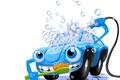 Картинка wash, синяя, арт, абстракция, пена, персонаж, вода, остроумный, самообслуживание, car, машина, веселый, машинка, пузырьки, wallpaper., ...