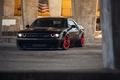 Картинка Dodge Challenger, HellCat, black, tuning, SRT, Liberty Walk