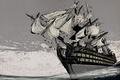 Картинка Море, Корабль, Парусник, Серый