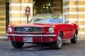 Картинка красный, ретро, Mustang, классика, 1966
