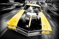 Картинка Желтый, Машина, Скорость