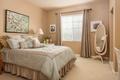 Картинка дизайн, стиль, кровать, подушки, зеркало, спальня, декор