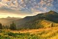 Картинка облако, утро, свет, пейзажи, природа, холмы, трава, облака