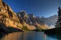 Картинка деревья, озеро, скалы