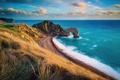 Картинка Юрское побережье, естественные известняковые скальные ворота Дердл-дор, Англия, Дорсет