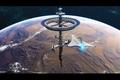 Картинка полёт, звёзды, Phoenix Station, планета, космическая станция, космос