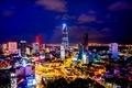 Картинка ночь, Вьетнам, night, Vietnam, Сайгон, Хошимин, Saigon, Ho Chi Minh City