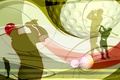 Картинка вектор, удар, гольф, Golf, коллаж, обои, клюшка, силуэт, кепка