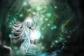 Картинка светлячки, Нимфа, магия, лес