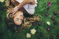 Картинка цветы, Flowers that grow in the rain, Amy Spanos, девушка, бутоны