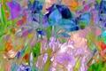 Картинка цветы, рендеринг, лепестки, луг, природа