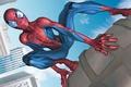 Картинка небоскребы, Человек-Паук, Марвел, комикс, Нью-Йорк, Marvel Comics, Peter Parker, Питер Паркер, город, Spider-Man, небо, облака