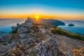 Картинка Средиземное море, Испания, рассвет, Majorca, Spain, море, Cap de Formentor, Мыс Форментор, Mediterranean Sea, восход, ...