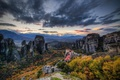 Картинка утро, пейзаж, горы, природа, замок