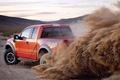 Картинка земля, пыль, пробуксовка, ford