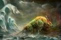 Картинка Море, монстр, лев