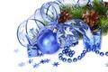 Картинка украшения, шары, Новый Год, Рождество, Christmas, blue, New Year, decoration
