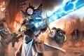 Картинка оружие, молния, крест, меч, доспехи, войны, арт, автомат, warhammer 40k, знамя, Loyvet Pierre, The Black ...