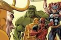 Картинка красный, Железный человек, Уэйд Уилсон, Халк, Loki, Hulk, Локи, Iron man, comics, MARVEL, Deadpool, Дэдпул, ...
