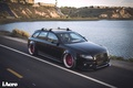 Картинка ауди, audi, wheels, black, quattro, tuning, front, face, germany, low, stance