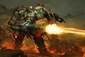 Картинка оружие, механизм, AirMech Arena, патроны, game wallpapers, робот, огонь