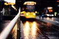 Картинка дорога, макро, машины, город, огни, улица, автобус, боке