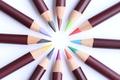 Картинка круг, карандаши, цветные, грифель