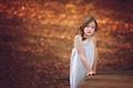 Картинка грусть, девочка, краски осени, Melanie Weyer