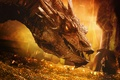Картинка дракон, Хоббит: Пустошь Смауга, золото, The Hobbit: The Desolation of Smaug, Smaug