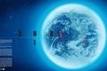 Картинка обработка, синий, Планета