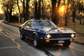 Картинка ford mustang, машина, скорость, закат