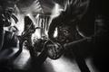 Картинка Музыка, гитары, группы, рисунок, черно белое