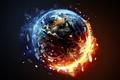 Картинка destruction, death, fire, planet