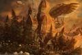 Картинка Ognian bonev, the outpost, замок, дирижабли