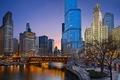 Картинка Чикаго, mary bartelme park, парк, chicago, illinois, lights, огни, Иллинойс, ночь, usa, night, США