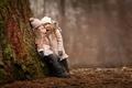 Картинка радость, настроение, дети, подружки, встреча, лес, девочки