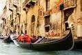 Картинка гондолы, Venice, болконы, венеция, архитектура, окна, италия, канал, здания