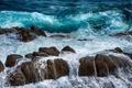 Картинка море, волны, скалы, камни, брызги