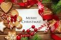 Картинка Xmas, Новый Год, выпечка, Merry, gingerbread, сладкое, печенье, глазурь, Рождество, Christmas, cookies, decoration