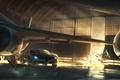 Картинка Гонка, ангар, авто, самолет, split/second