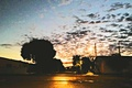 Картинка day, clouds, eventide, city, the, end, trees, streets, sunlight