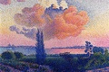 Картинка Анри Эдмон Кросс, картина, корабль, Пейзаж, дерево