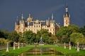 Картинка парк, Germany, Шверинский замок, Schwerin Castle, скульптуры, Германия, пруд