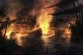 Картинка бой, корабли, огонь