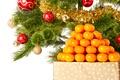Картинка Новый Год, Merry, украшения, Рождество, мандарины, елка, Christmas, шары, decoration